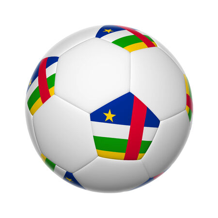 central african republic: Flags on soccer ball of Central African Republic