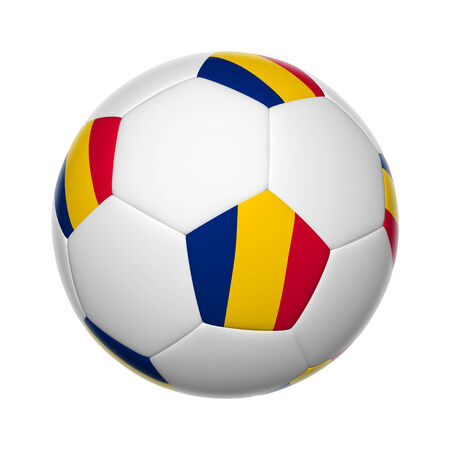 chadian: Flags on soccer ball of Chad