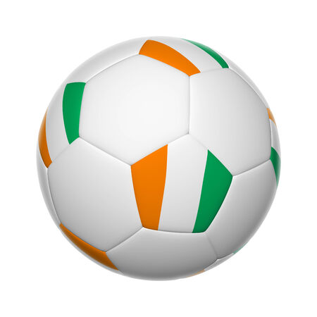Te: Flags on soccer ball of Côte d'Ivoire