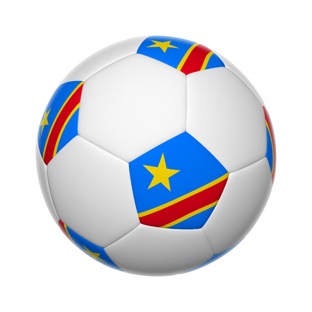 Flags on soccer ball of Democratic Republic of the Congo photo