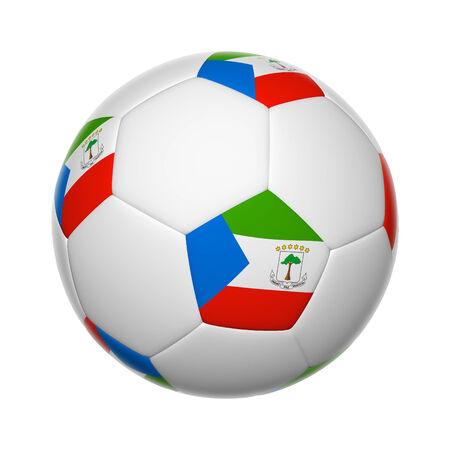 equatorial: Flags on soccer ball of Equatorial Guinea Stock Photo