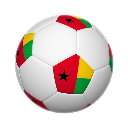guinea bissau: Flags on soccer ball of Guinea Bissau
