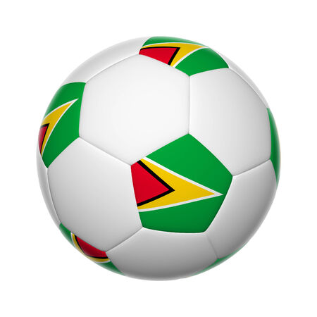 guyanese: Flags on soccer ball of Guyana