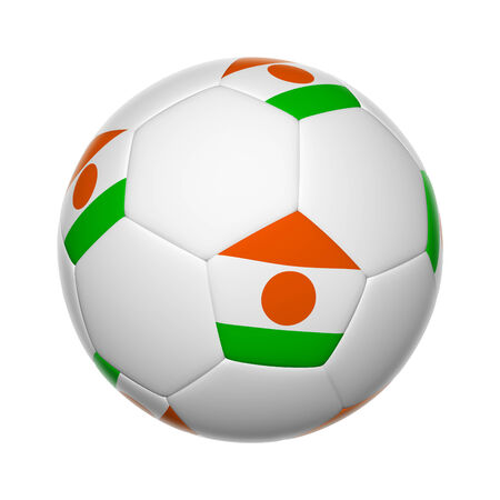 niger: Flags on soccer ball of Niger Stock Photo