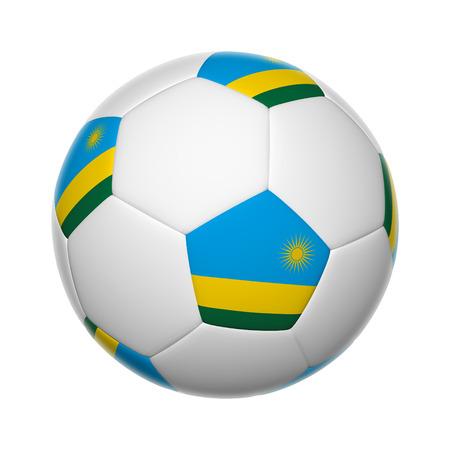 rwanda: Flags on soccer ball of Rwanda