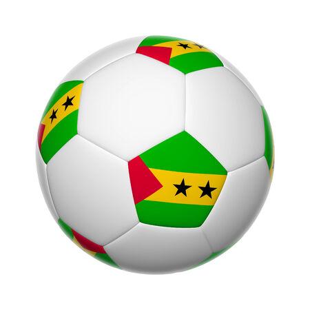 principe: Banderas en la pelota de fútbol de Santo Tomé y Príncipe