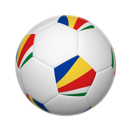 seychelles: Flags on soccer ball of Seychelles