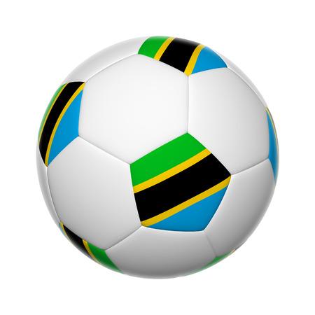 Flags on soccer ball of Tanzania photo