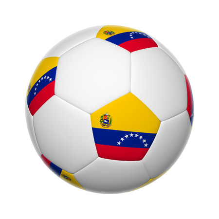 Flags on soccer ball of Venezuela photo