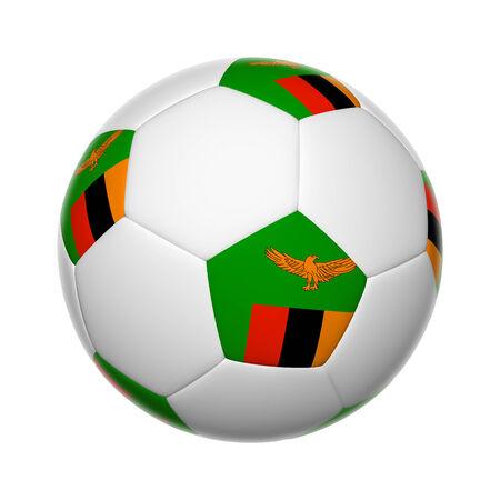 zambia: Flags on soccer ball of Zambia