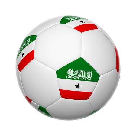 somali: Flags on soccer ball of Somaliland Stock Photo
