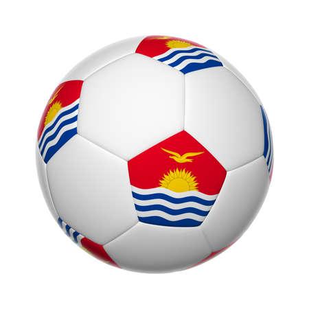 kiribati: Flags on soccer ball of Kiribati