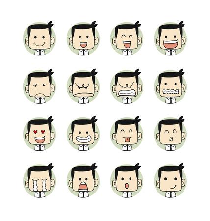 Uomini emozioni facce caratteri