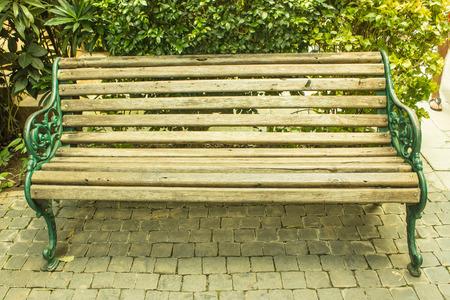 Park bench  background . photo