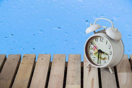 still: Still Life clock on wood Stock Photo