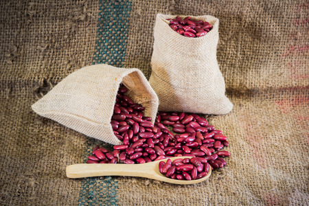 sackcloth: Red bean on sackcloth
