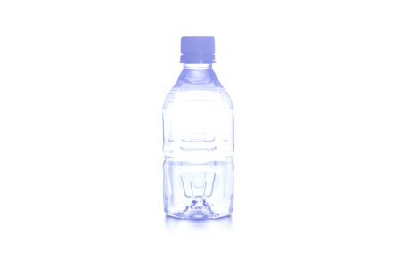 purified: Water bottle white background