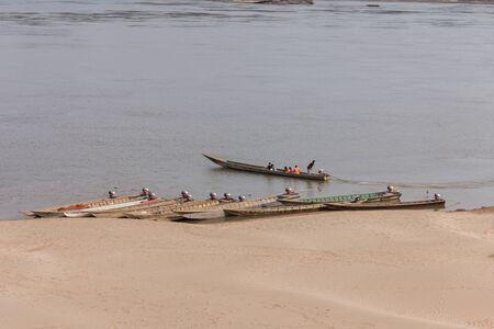Along the Mekong River Stock Photo