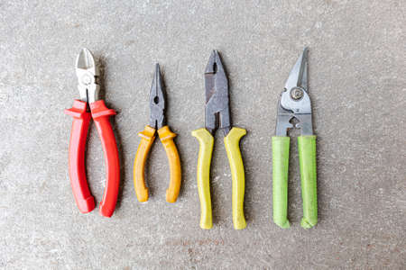 Variety of tools for a constructions worker background.