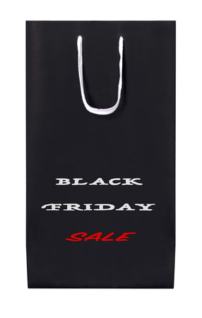 Black Friday Sale paperbag isolated on white background