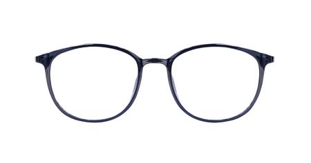 Black eye glasses isolated on white blackground