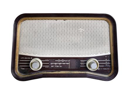 old radio: Old radio, isolated on white background