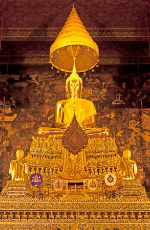 subject buddha at wat-pho in thailand photo