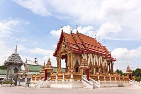 buddhist s church in thailand photo