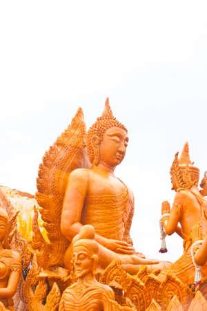 annals: buddha with god Stock Photo