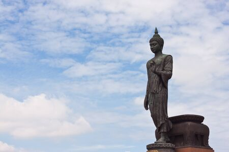 buddha image with beauty sky Stock Photo - 14455579