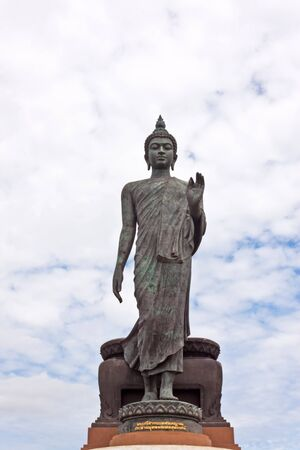 buddha image with beauty sky photo