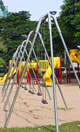 playground at park in thailand photo