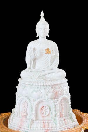 white buddha statue in thailand photo