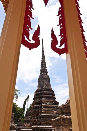 pagoda at korkred in Thailand photo