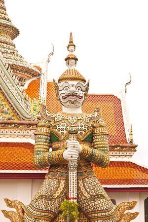 White Giant at Wat-Arun in Thailand photo