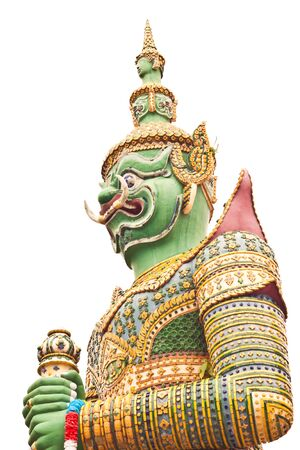 Green Giant at Wat-Arun in Thailand photo