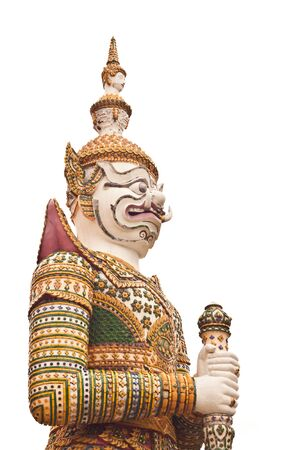 White Giant at Wat-Arun in Thailand Stock Photo - 14833461