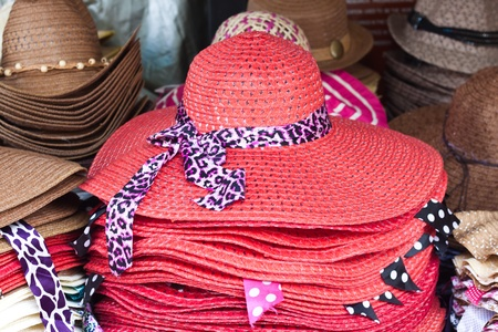 Red hat and beauty ribbon photo