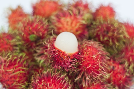 Many appetizing rambutans from fram of Thailand Stock Photo - 14870098