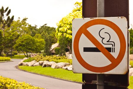 No smocking in gadent Stock Photo - 15089820