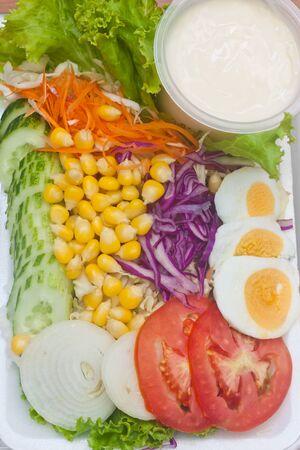 mixing salad photo