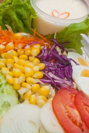 mixing salad photo