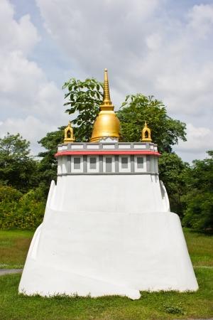 travesty: Golden mountain in garden of Thailand