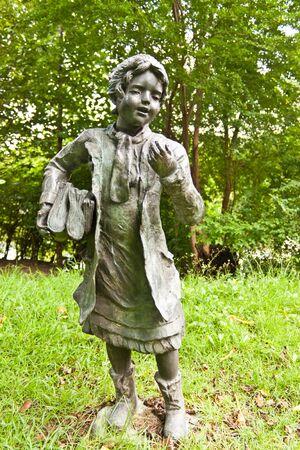 statuary garden: school girl