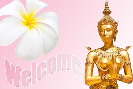nicety: welcome Stock Photo