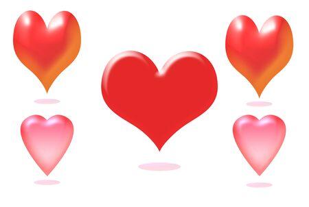 Einbuchtung: Herz Lizenzfreie Bilder