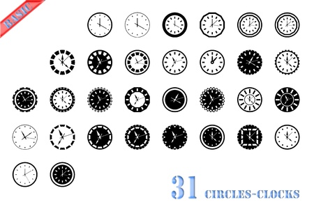 clock icon Stock Photo - 15822784