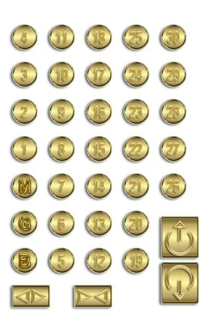 Gold button photo