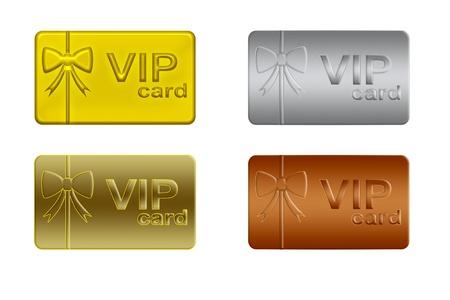 members: Vip card Stock Photo