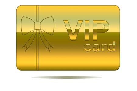 Vip card Stock Photo
